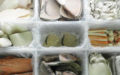 Frozen food PVC containers